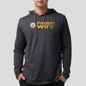 U.S. Navy: Proud Wife Mens Hooded Shirt