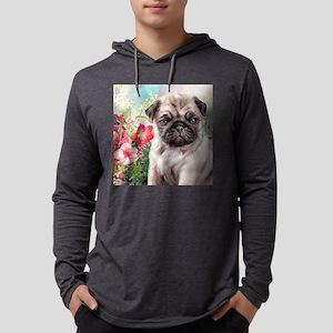 Pug Painting Mens Hooded Shirt