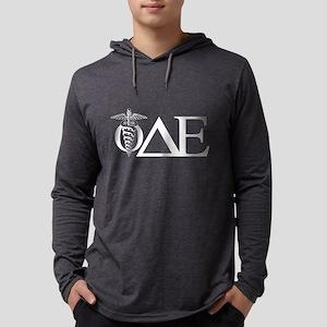 Phi Delta Epsilon Letters Dark Mens Hooded Shirt