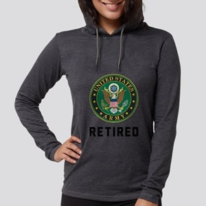 Army Retired Womens Hooded Shirt