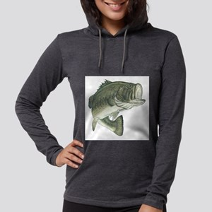 large mouth bass Womens Hooded Shirt