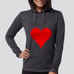 Simple Red Heart Long Sleeve T-Shirt