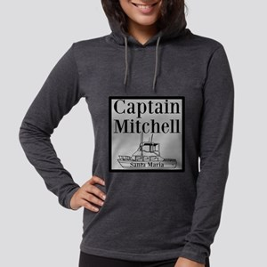 Personalized captain fishing b Womens Hooded Shirt