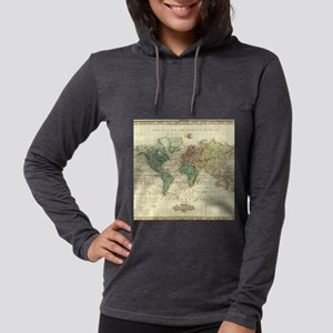 Vintage Map of The World (1823 Long Sleeve T-Shirt
