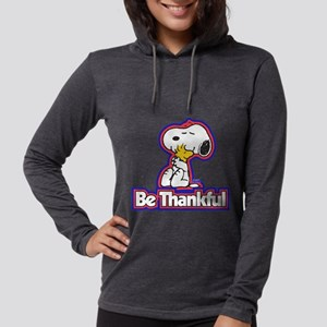 Peanuts Be Thankful Womens Hooded Shirt