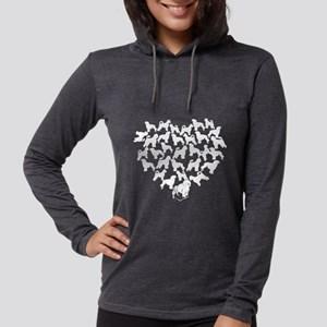 Portuguese Water Dog Heart T-s Womens Hooded Shirt