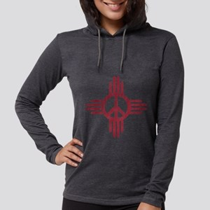 New Mexico Peace Sign Womens Hooded Shirt