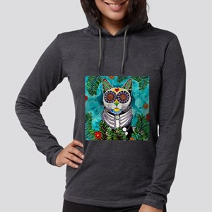 Smudge the Cat Womens Hooded Shirt