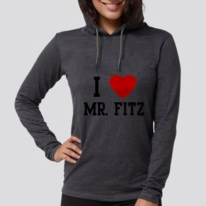 I Heart MR. Fitz Womens Hooded Shirt