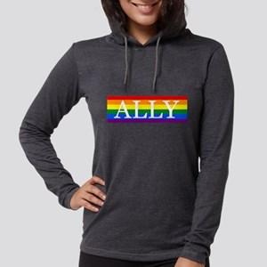 LGBTQ Ally Bumper Sticker Womens Hooded Shirt