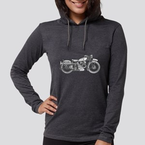 1935 classic motorcycle Womens Hooded Shirt