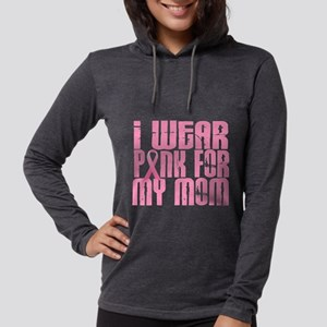 - I Wear Pink 16 Mom Breast Cancer Womens Hooded S