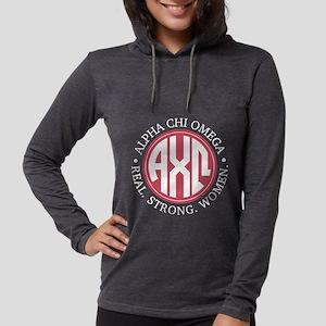 Alpha Chi Omega Monogram Womens Hooded Shirt
