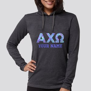 Alpha Chi Omega Floral Womens Hooded Shirt