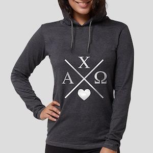 Alpha Chi Omega Cross Womens Hooded Shirt
