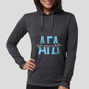 Alpha Gamma Delta Polka Dot Womens Hooded T-Shirts