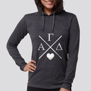 Alpha Gamma Delta Letters C Womens Hooded T-Shirts