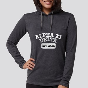 Alpha Xi Delta Athletic Person Womens Hooded Shirt
