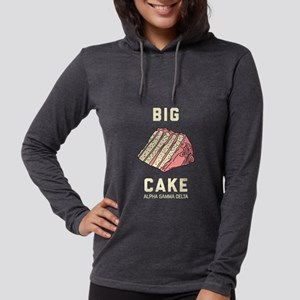 Alpha Gamma Delta Big Cake Womens Hooded Shirt