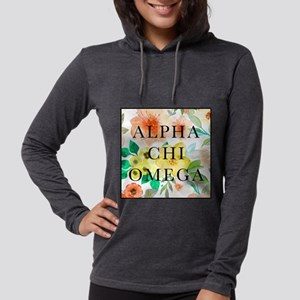 Alpha Chi Omega Floral Square Womens Hooded Shirt