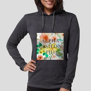 Alpha Epsilon Phi Floral Womens Hooded Shirt