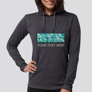 Alpha Epsilon Phi Geometric Pe Womens Hooded Shirt