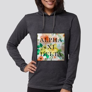 Alpha Xi Delta Floral Womens Hooded Shirt