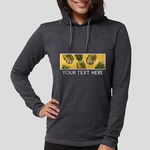 Alpha Xi Delta Pineapples Womens Hooded Shirt