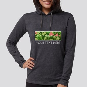 Delta Phi Epsilon Banana Leave Womens Hooded Shirt