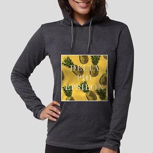 Delta Phi Epsilon Pineapples Womens Hooded Shirt