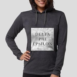Delta Phi Epsilon Marble Womens Hooded Shirt