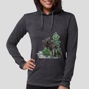 Bull moose art Long Sleeve T-Shirt