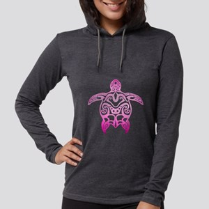 Pink Tribal Turtle Long Sleeve T-Shirt