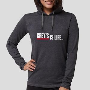 Greys Anatomy Greys Is Life wh Womens Hooded Shirt