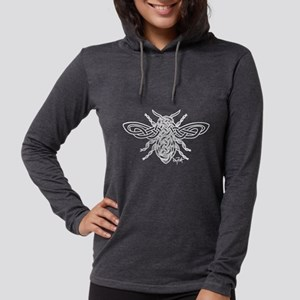 Celtic Knotwork Bee - white lines Long Sleeve T-Sh