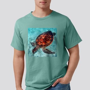 Sea Turtle swimming Mens Comfort Colors Shirt