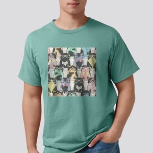 Hipster Cats Mens Comfort Colors Shirt