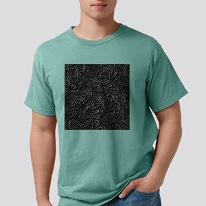 Black Flourish Mens Comfort Colors Shirt
