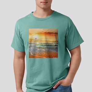 Tropical Beach Mens Comfort Colors Shirt