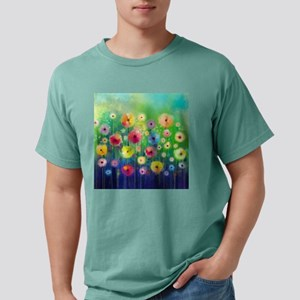 Watercolor Flowers Mens Comfort Colors Shirt
