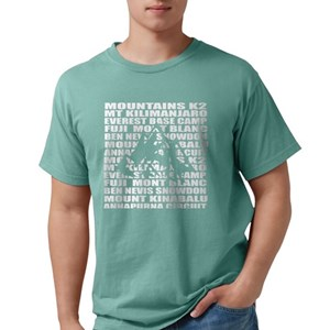7a339abbc Mountaineering words Mens Comfort Colors Shirt