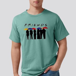 Friends Umbrellas Mens Comfort Colors Shirt