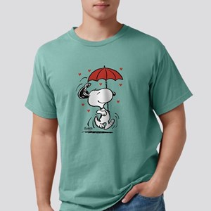 Peanuts: Snoopy Raining Hearts Mens Comfort Colors