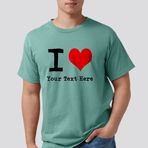I Heart (personalized) Mens Comfort Colors Shirt