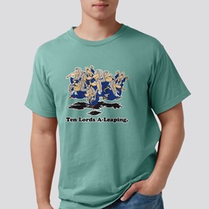 10 Lords a leaping Mens Comfort Colors Shirt