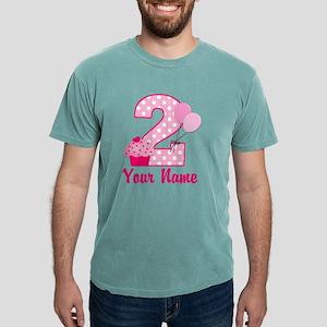 2nd Birthday Cupcake Mens Comfort Colors Shirt