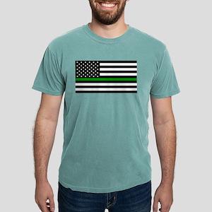 U.S. Flag: The Thin Green Line T-Shirt