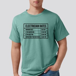 Electrician Rates Mens Comfort Colors Shirt