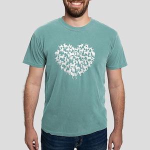 Chihuahua Heart T-shirt Mens Comfort Colors Shirt
