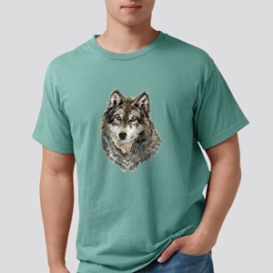 Watercolor Grey, Gray Wolf Animal Painting T-Shirt